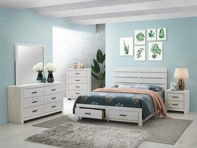 207050 Queen White 4Pc (Bed,Dr,Mr,Ns)