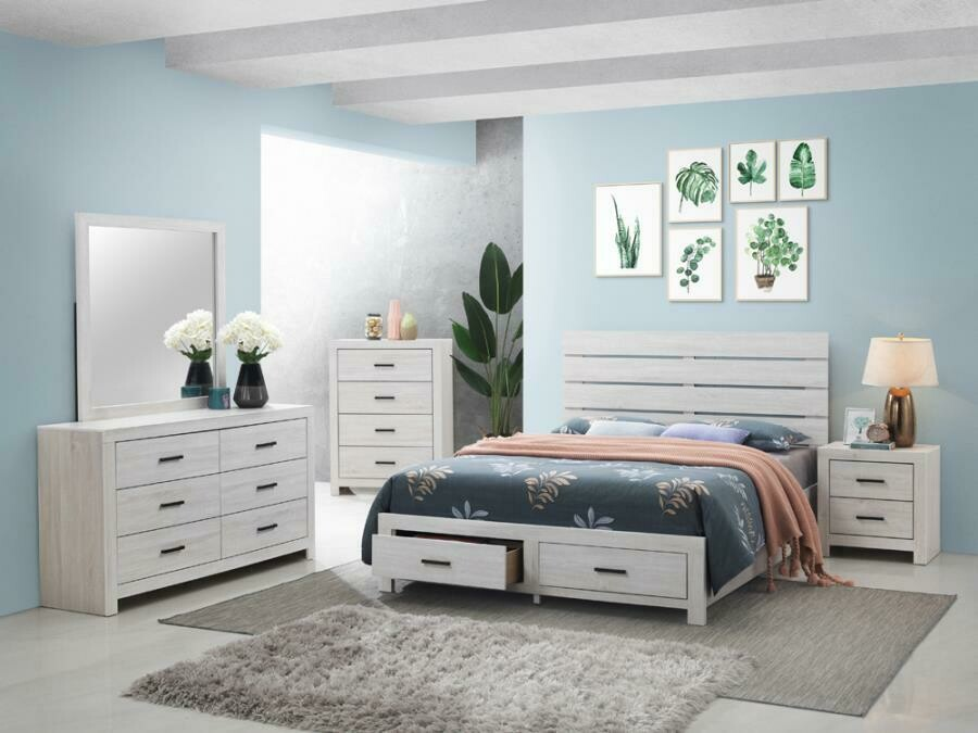 207050 Queen White 5Pc (Bed,Dr,Mr,Ch,Ns)