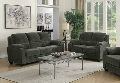 50624 Charcoal 2 PC (SOFA + LOVE)