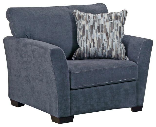 7058 Pacific Blue Steel 2Pc (Sofa + Chair)