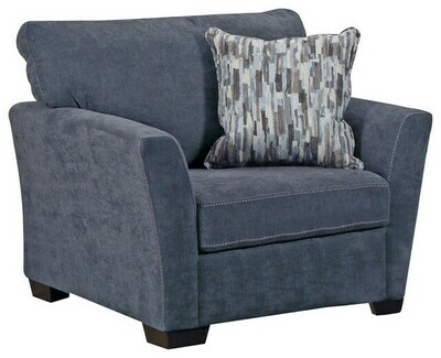 7058 Pacific Blue Steel 2Pc (Sofa + Chair)
