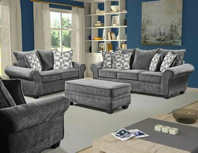 1000 ARTESIA GRANITE 2Pc (Sofa + Love)