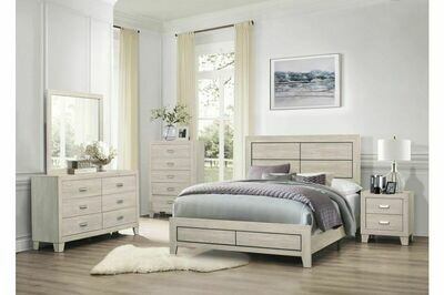 1525 Quinby Bedroom Group 4PC SET (Q.BED,NS,DR,MR)