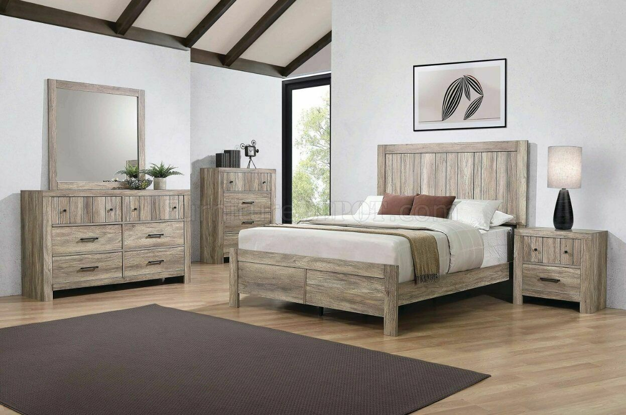 223101Rustic Oak 4PC SET (Q.BED,NS,DR,MR)