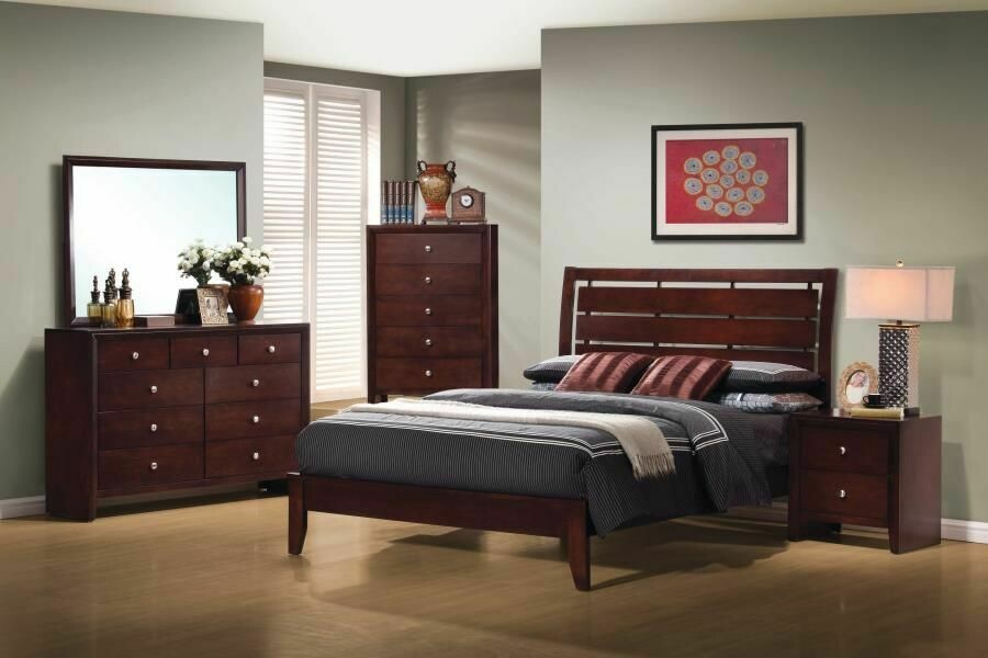 Serenity Queen Bedroom Group 4PC SET (Q.BED,NS,DR,MR)