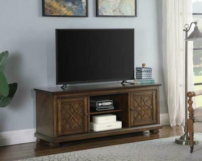 708132 2-Door TV Console Golden Brown