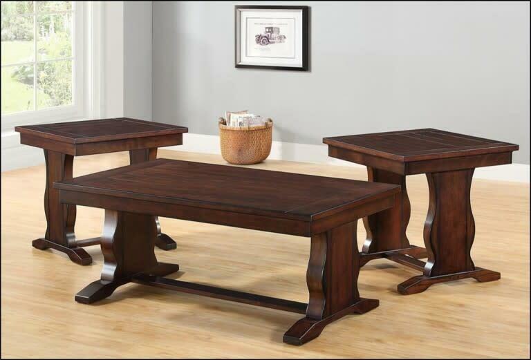 7534-47 Church Pew Base End Table