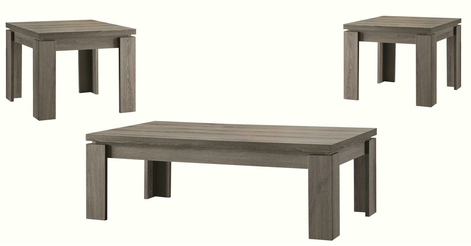 701686 3Pc Occasional Table Set Weathered Grey