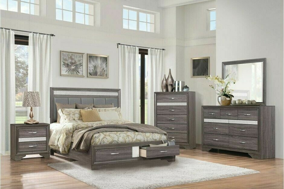 1505 Luster 5Pc Bedroom (QBed,Dr,Mr,Ns,Ch)