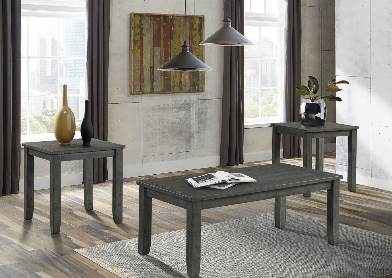 7045-43 End Table Grey