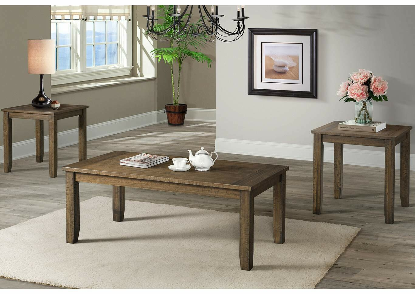 7046 Cocktail and End Table Set
