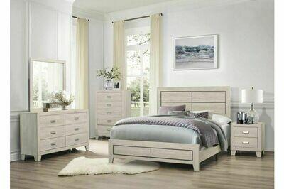 1525 Quinby Bedroom Group 4PC SET (K .BED,NS,DR,MR)