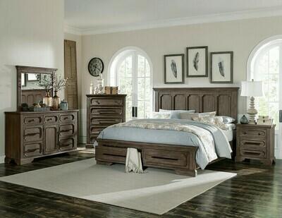 5438 Toulon Bedroom Group 4PC SET (Q.BED,NS,DR,MR)