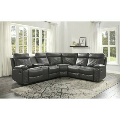 9599GRY Socorro 3-Piece Reclining Sectional