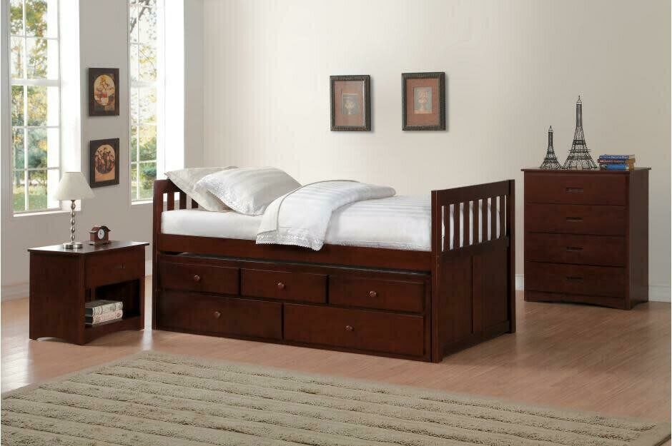 B2013PRDC Twin/Twin Trundle Bed