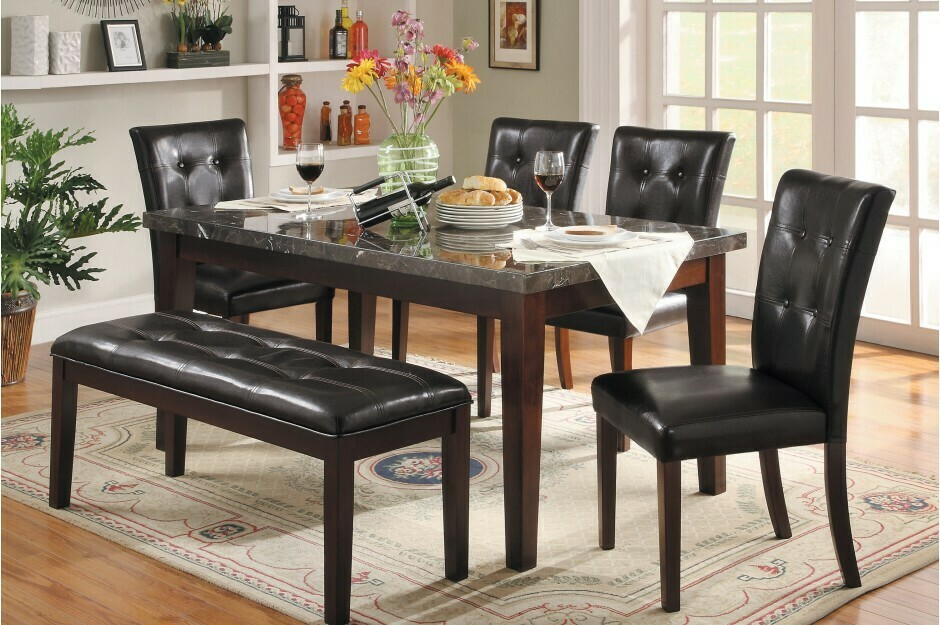 2456-64 Decatur 6 Pc (Table+4Ch+Bench)