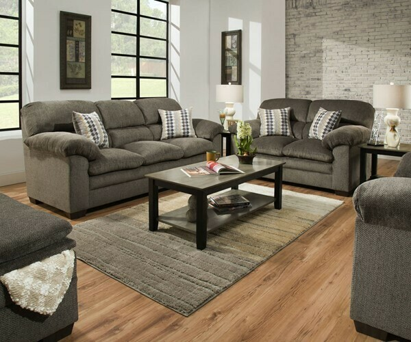 3683 Harlow Ash 2Pc Sofa Set (Sofa + Love)