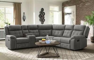 59933 Keystone Grey Sectional