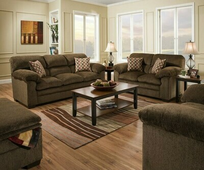 Harlow Chestnut 2Pc Sofa Set (Sofa + Love)
