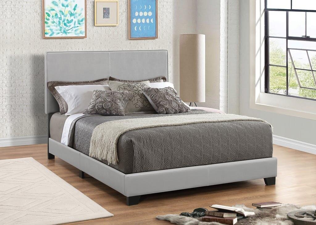 300763 King Grey Bed