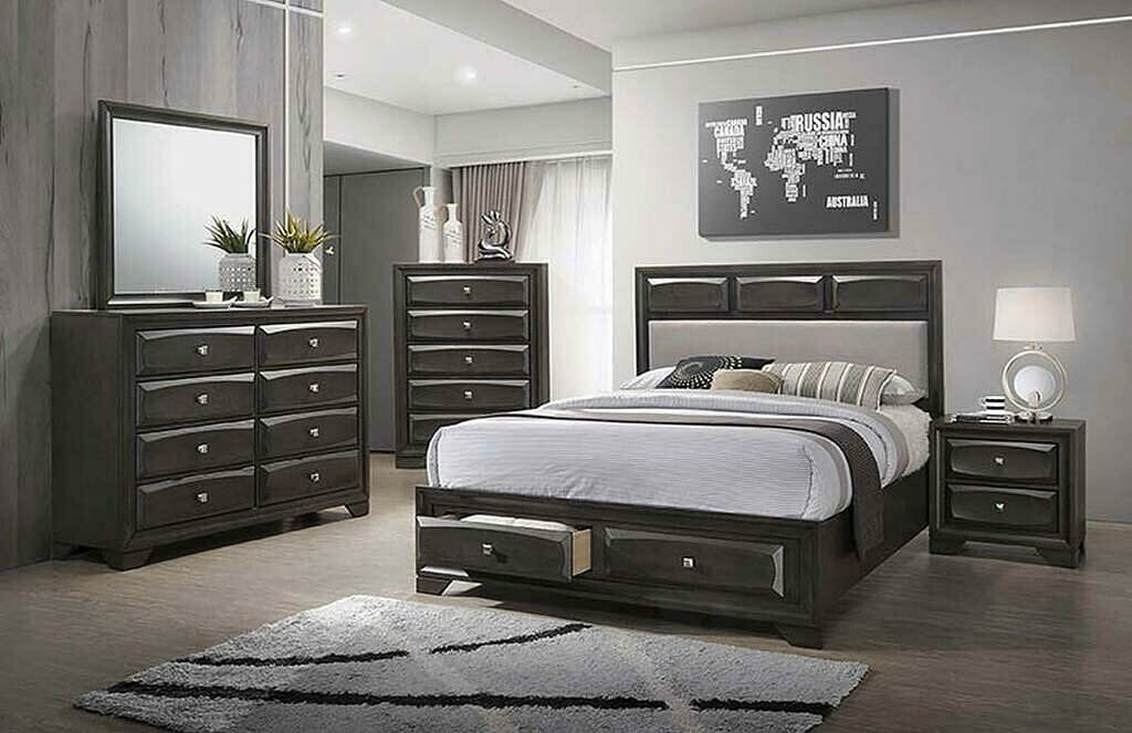 206280 Brown Graphite King Bed