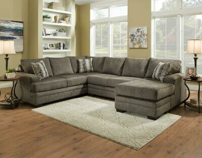 2750 Cornell Pewter 3Pc Sectional