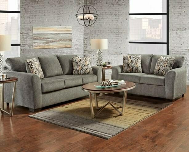 3330 Allure Grey 2Pc (Sofa+Love)