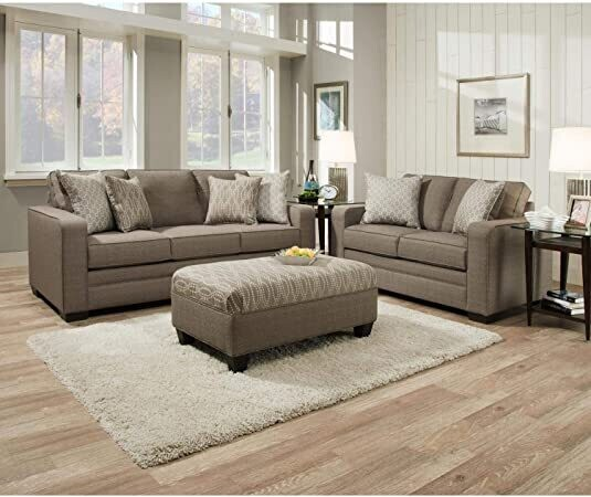 9065 Seguin Pewter Sofa Set 2Pc (Sofa + Love)