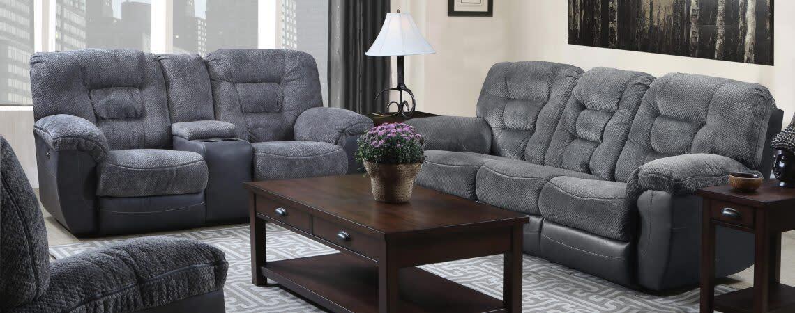 Lane Darcy Charcoal 2Pc Sofa Set (Sofa + Love)