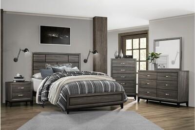 1645 Davi Bedroom KingGroup 4PC SET (K.BED,NS,DR,MR)