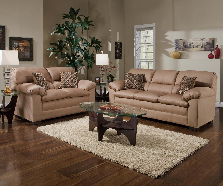 3685 Velocity Latte 2Pc (Sofa+Love)