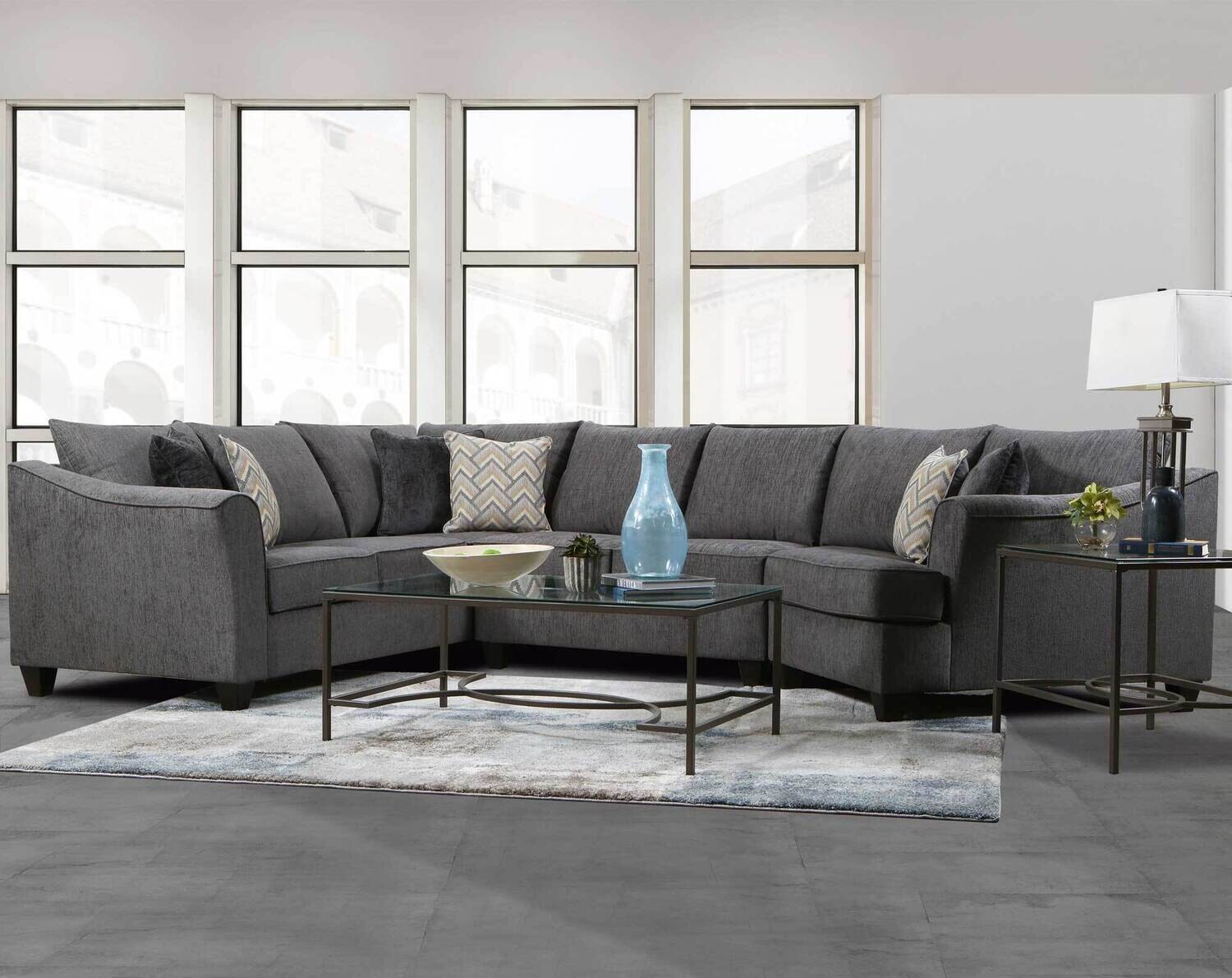 2903 Cayman Charcoal 3Pc Sectional
