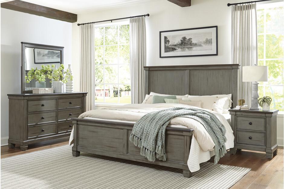 1626GY  3Pc Weaver Grey Queen Bedroom Set