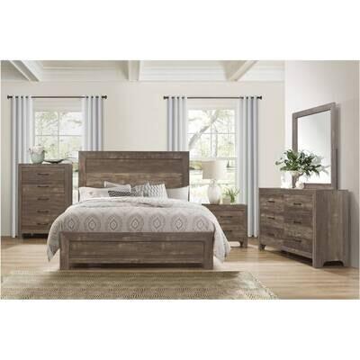 1534 Brown King 4pc Set (Bed, Dr, Mr Ns)