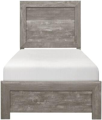 1534GY Twin Grey Corbin Bed
