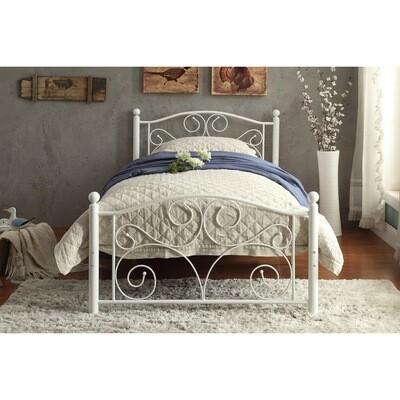 2021 Pallina White Twin Metal Platform Bed