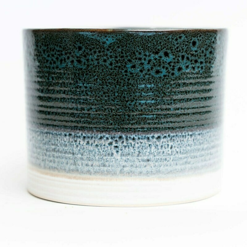 """Blue Pottery 6"""" Pot"""