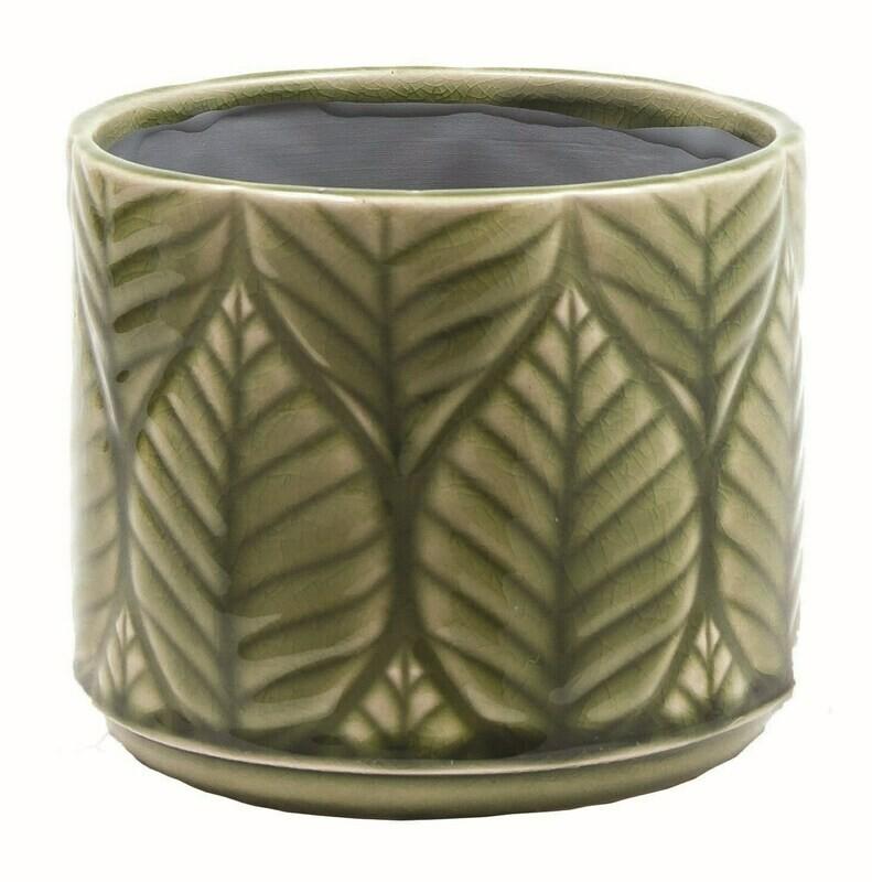 """Moss Green Leaf 6"""" Leaf Pot"""