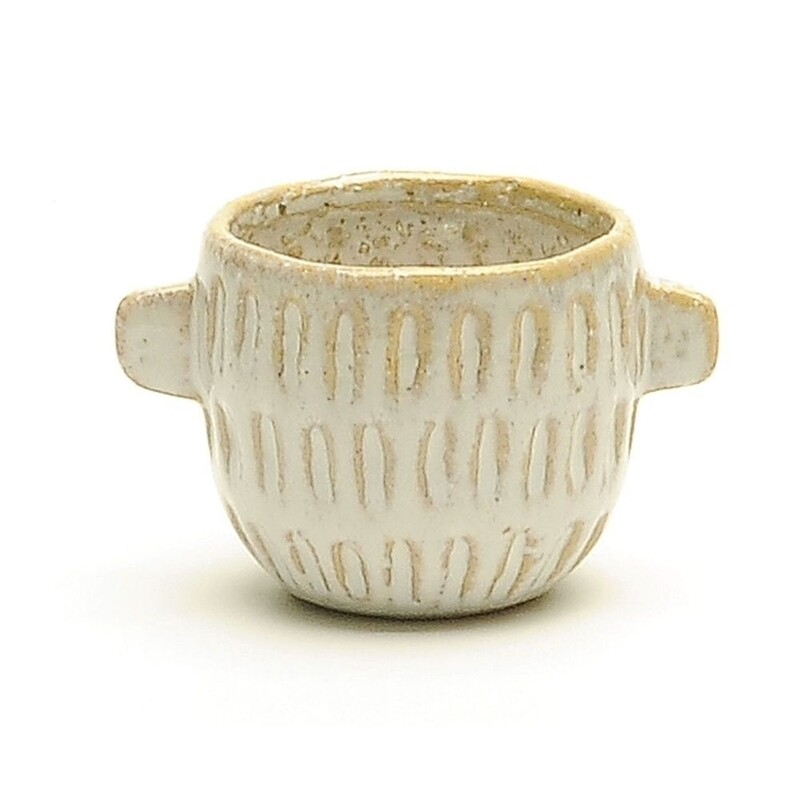 """2.5"""" Small textured pot with handles"""