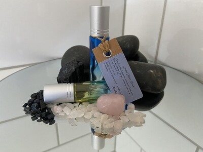 Winter Solstice Blend with Black Tourmaline Rose Quartz