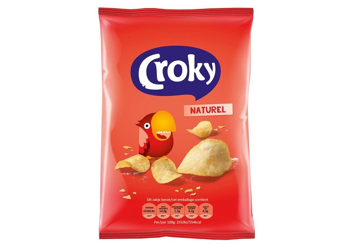 Crocky chips zout 20 x 40 gr