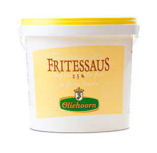 Fritsaus 25% oliehoorn geel
