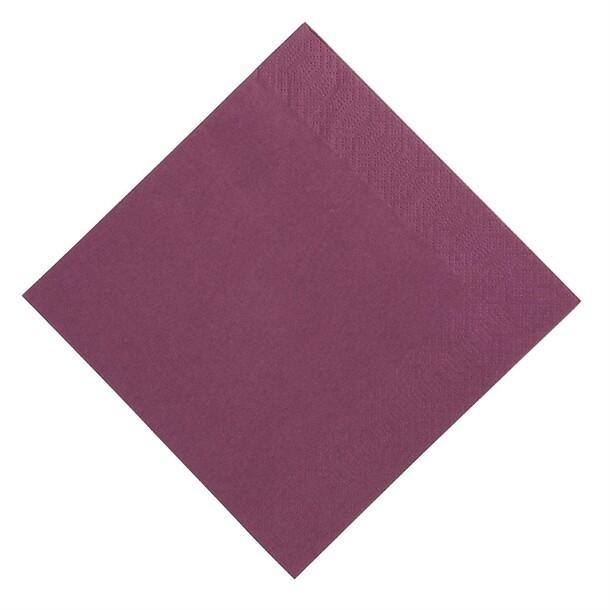 Duni servetten plum 2lg 40 x 40cm 125st