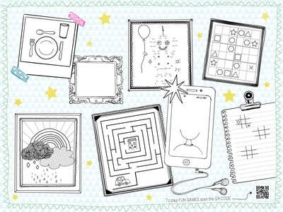 Placemats kids keep drawing 250st duni