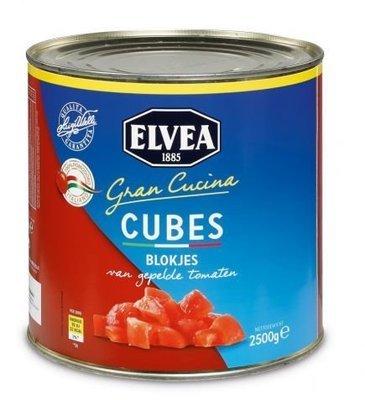 Gehakte tomaten 2,5 kg blik elvea