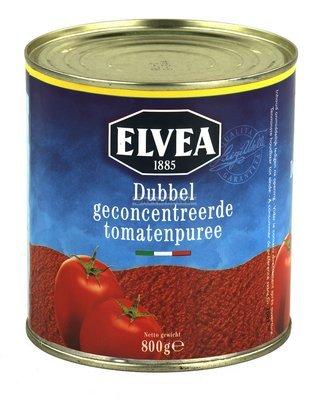 Tomatenpuree 800 gr blik elvea