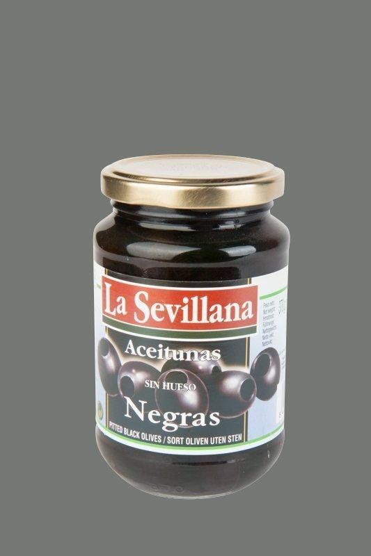 Zwarte olijf z/p glas 370 ml