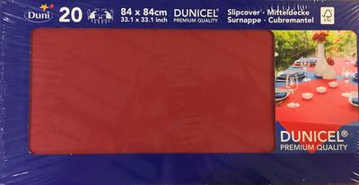 Duni napperon BORDEAU 84 x 84 cm 20st