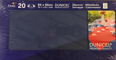 Duni napperon DONKER BLAUW 84 x 84 cm 20st