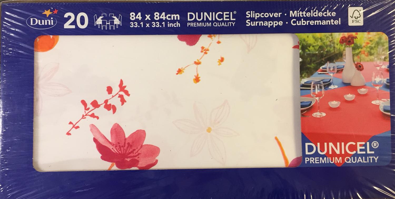 Duni napperon SUNBRELLA RED 84 x 84cm 20st